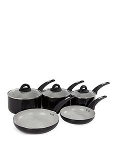 tower-nfinistone-5-piece-pan-set-black