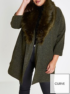 ri-plus-jersey-faux-fur-collar-blazer