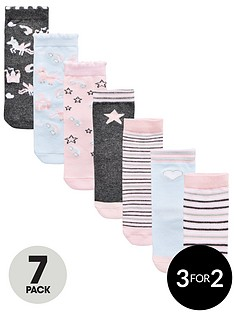 mini-v-by-very-girls-7-pack-unicorn-socks