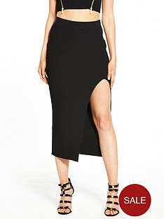 ri-petite-side-split-skirt-black