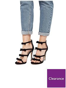 miss-selfridge-black-bow-strap-sandal