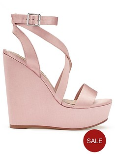 miss-selfridge-satin-wrap-wedge-nudenbsp