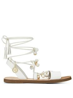 miss-selfridge-pom-pom-sandal-white