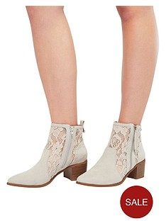 miss-selfridge-nude-lace-ankle-boot