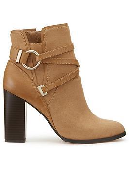 miss-selfridge-tan-circle-wrap-ankle-boot