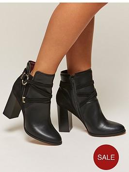 miss-selfridge-miss-selfridge-black-circle-wrap-ankle-boot