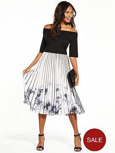 coast-mirabeaunbspprinted-pleat-midi-dress