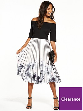 coast-mirabeaunbspprinted-pleat-midi-dress