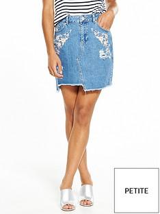 miss-selfridge-miss-selfridge-petite-denim-emb-mini-denim-skirt