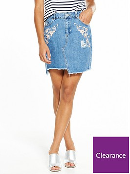 miss-selfridge-petite-denim-embroiderednbspmini-skirt
