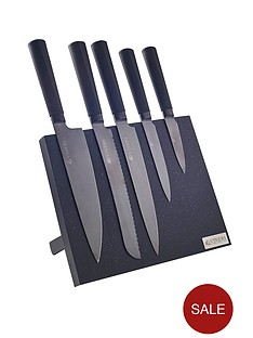 viners-5-piece-knife-set-black