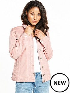 miss-selfridge-long-line-denim-jacket