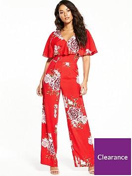 miss-selfridge-floral-cape-jumpsuit