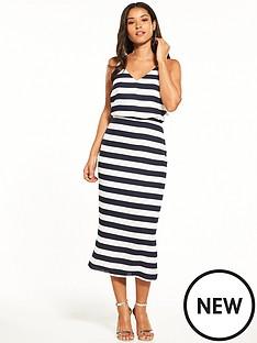 oasis-oasis-stripe-knot-back-midi-dress