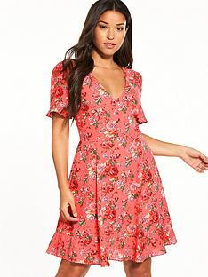 oasis-utility-rose-tea-dress