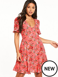 oasis-utility-rose-tea-dress