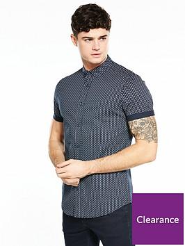 v-by-very-short-sleeve-geo-print-stretch-shirt