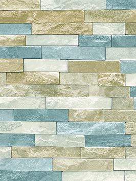 ARTHOUSE  Arthouse Azure Slate Wallpaper &Ndash; Natural