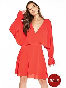 v-by-very-cape-detail-tea-dress