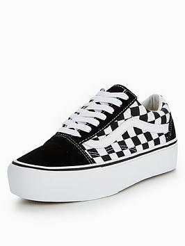 vans old skool platform checkerboard