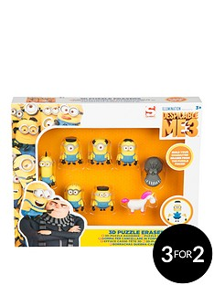 minions-8-pack-3d-puzzle-erasers