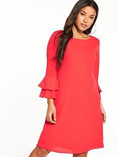 wallis-flute-sleeve-shift-dress
