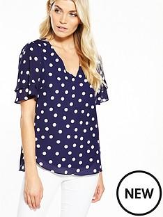 wallis-spot-double-sleeve-blouse