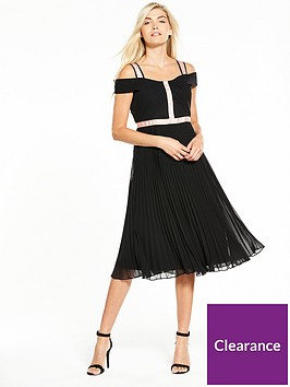 phase-eight-alania-pleated-dress-tearoseblack