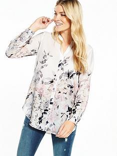 wallis-pretty-neutral-floral-shirt