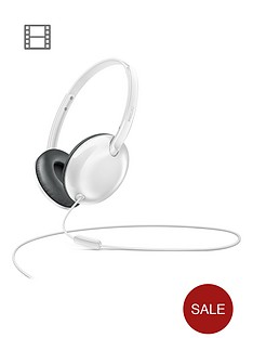 philips-flite-utralitenbspon-ear-headphones-withnbspmic-white
