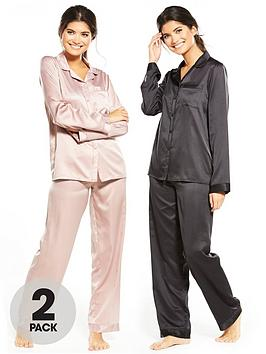 v-by-very-2-pack-long-sleeve-satin-pyjamas