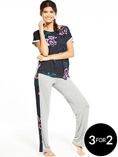 v-by-very-floral-front-slouchy-pj-top