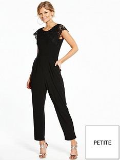 wallis-petite-crochet-lace-sleeve-jumpsuit