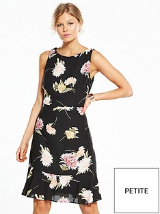 wallis-petite-chrysanthemum-fit-amp-flare-dress