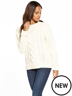 v-by-very-matt-chenille-cable-jumper