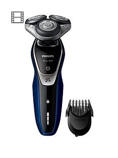 philips-philips-series-5000-wet-and-dry-men039s-electric-shaver-s557240-with-turbo-mode-amp-beard-trimmer-shaver-s557240