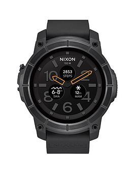 nixon-mission-black-silicone-strapnbspsmartwatch