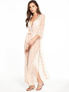 river-island-blush-embroidered-kaftan
