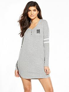 v-by-very-henley-lounge-dress-with-stripe-sleeves