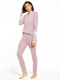 v-by-very-long-sleeve-stripe-hooded-lounge-set