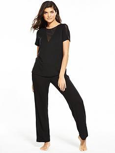 v-by-very-mesh-insert-pyjama-set