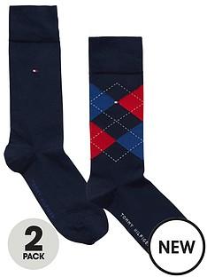 tommy-hilfiger-2pk-argyleplain-sock