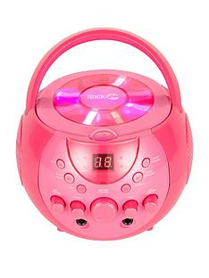 rockjam-rockjam-rj088bt-bluetooth-karaoke-with-3-cdgs-and-2-microphones-pink