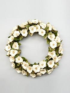 gisela-graham-fabric-rose-christmas-wreath