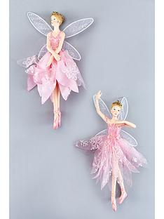 gisela-graham-fairy-ballerina-hanging-tree-decorations-set-of-2