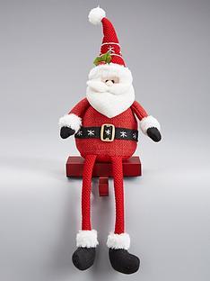 gisela-graham-fabric-santa-stocking-hanger