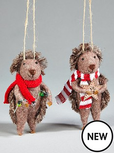 gisela-graham-wool-hedgehog-hanging-christmas-treenbspdecorations-2-pack