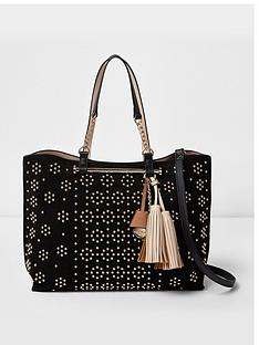 river-island-river-island-studded-soft-winged-tote-bag