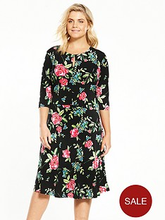 v-by-very-curve-three-quarter-sleeve-jersey-tea-dress
