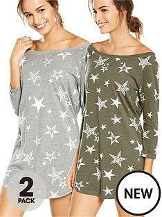 v-by-very-2-pack-stars-print-nightdress
